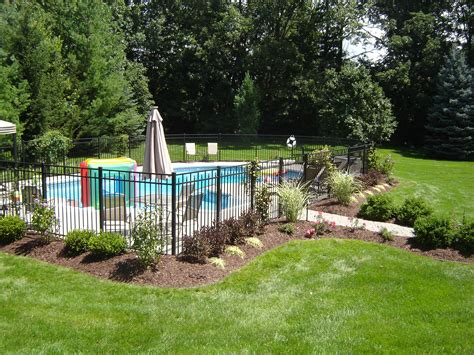backyard pool fence ideas landscaping around pool all natural landscapes