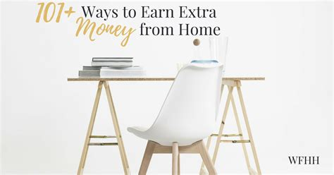 Extra Income Working Online From Home - 101 ways to earn extra money online work from home happiness