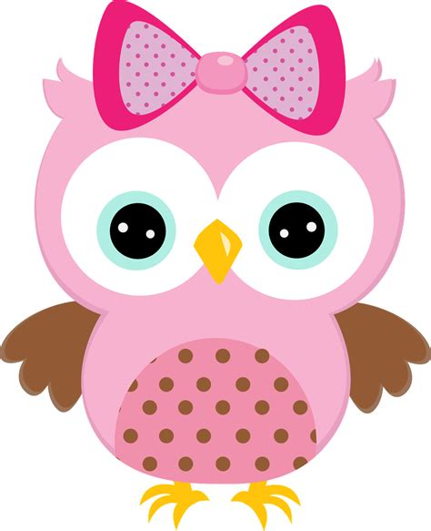Channel Owl Pink pink baby bird clipart