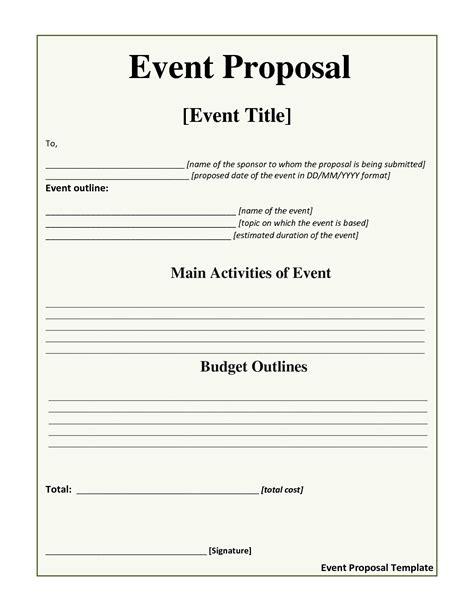 30 images of event proposal template downloadable infovia net