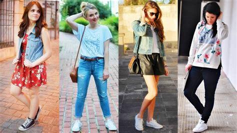 imagenes de jovenes blancas falda y jeans con zapatillas blancas deportivas 2017 youtube