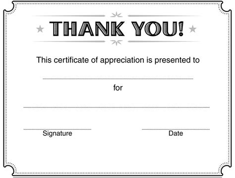 certificate of thanks template certificate of appreciation template 2 for free