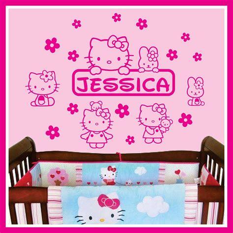 hello kitty stickers for bedroom walls 14 best hello kitty bedroom images on pinterest child