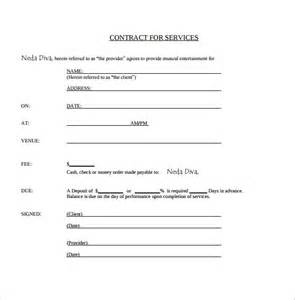 contract for work to be performed template sle contract template 12 free documents in pdf