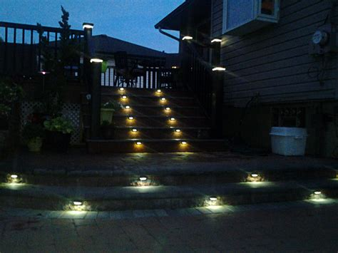 patio led lights led step lights hooded rectangular deck step accent