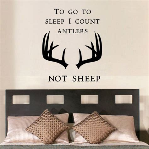 count antlers wall decal wall to go to sleep i count antlers wall decals by artollo