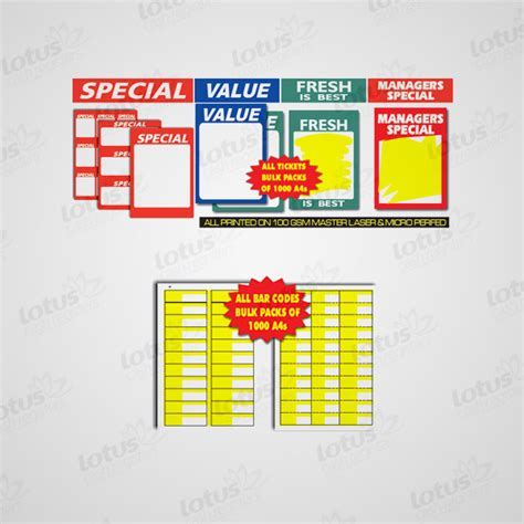 shelf labels thermal shelf tag labels lotus registers
