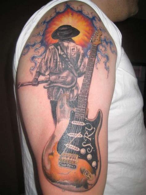 stevie ray vaughan tattoo srv stevie vaughan tribute