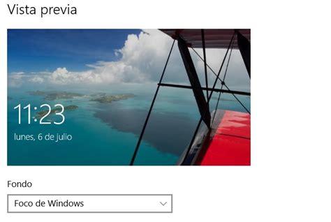 imagenes de foco de windows 10 configura tu pantalla de bloqueo en windows 10 para pc