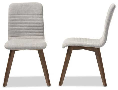 fabric upholstered walnut wood finishing dining chair