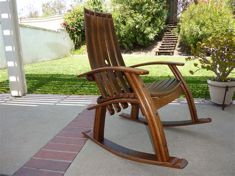 Outdoor Wooden Chair Plans Free by Wine Barrel Rocking Chair