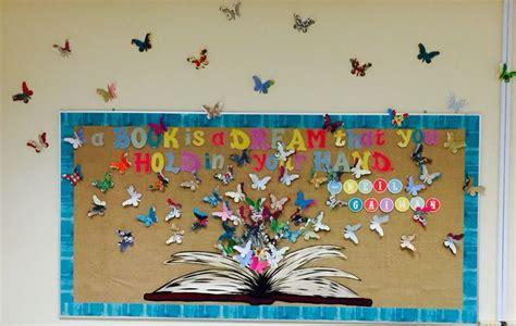 butterfly   bulletin board  high school classroom