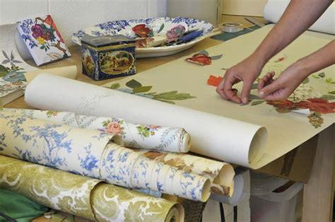 decoupage using wallpaper coles couture wallpaper