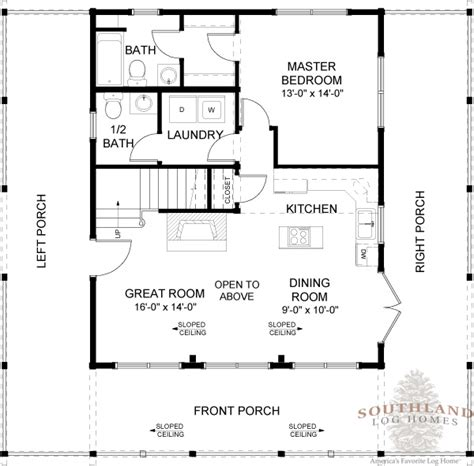 log home living floor plans featured floorplan the carson southland log homes