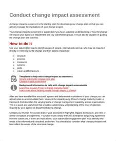 change impact assessment template impact assessment template 6 free word pdf documents