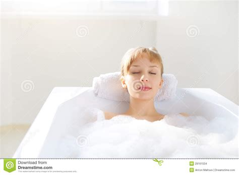 girl in a bathtub girl relaxing in bathtub stock images image 29161534