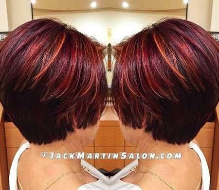 bob hairstyles with auburn highlights styles 2017