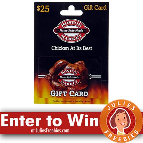 Boston Market Gift Card - win a 50 boston market gift card julie s freebies