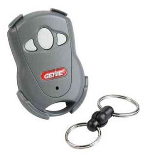 genie one button garage door remote genie gict390 1bl one button remote with