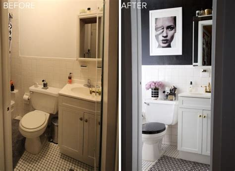 Rental Bathroom Makeover by 1000 Ideas About Small Bathroom Makeovers On