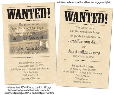 wanted poster invitation template tara d arcy designs wanted poster printable wedding