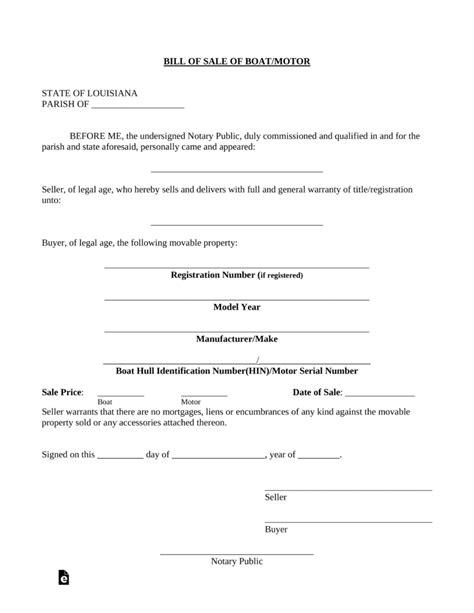 free oregon vessel bill of sale form pdf eforms free