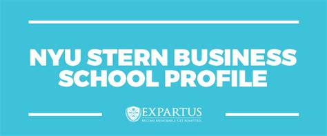 Nyu Mba Part Time Application by Expartus Consulting Nyu Business School Profile