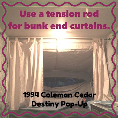 replacement curtains for pop up cer tension rods shepherds hook and braces on pinterest