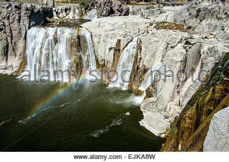 shoshone falls, snake river canyon, with hydroelectric