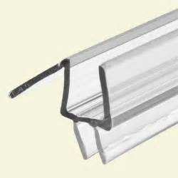 glass shower door plastic trim prime line 3 8 in glass door bottom seal with clear 36 in
