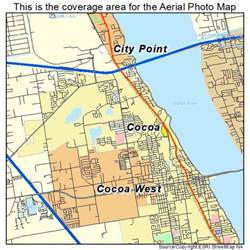 aerial photography map of cocoa fl florida
