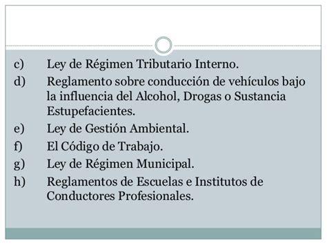 ley organica de regimen tributario interno de ecuador 2015 presentacion grupo 3