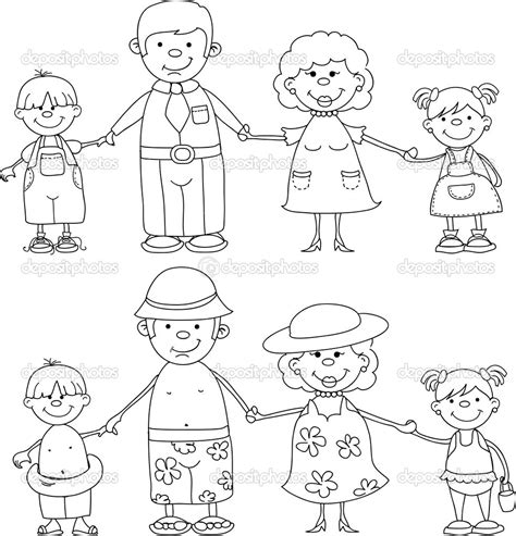 coloring page of family family members coloring pages maryell pinterest