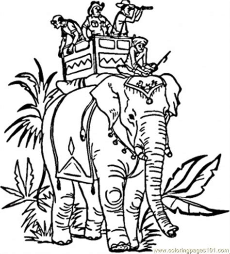coloring pages indian elephant countries gt india free