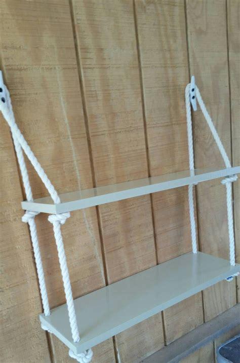 Nautical Rope Shelf by Swing Nautical Rope Shelf 2 Tier Hanging Shelf Nautical