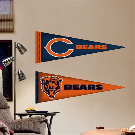 chicago bears wall stickers chicago bears pennants fathead jr fathead wall decal
