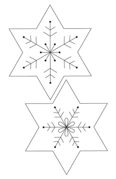 snowflake pattern to sew christmas decorations felt snowflake christmas garland