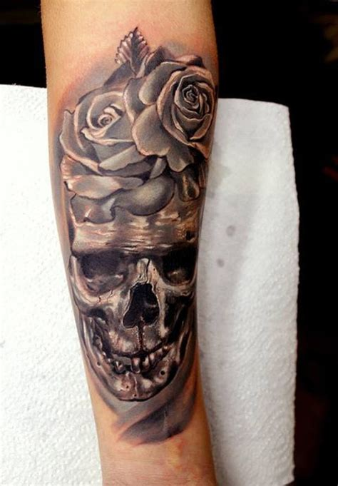full forearm tattoo designs skull with roses forearm tattoos book 65 000