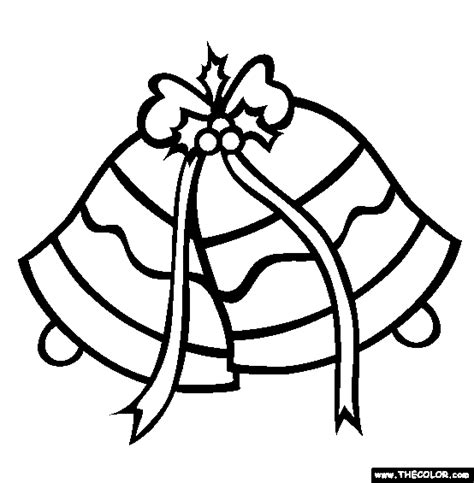 Christmas Bells Coloring Pages  Quoteslol Roflcom sketch template