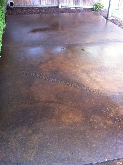 How To Stain Patio Concrete by Acid Stained Patio Coppell Tx Esr Decorative Concrete