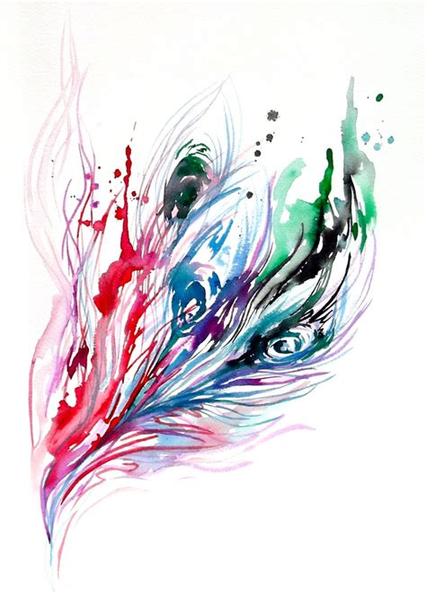 watercolor tattoo feather 24 best watercolor tattoos images on bird