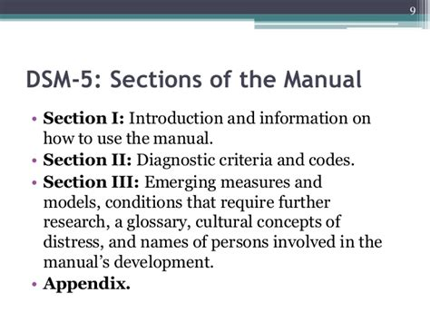 The Dsm 5 Overview Of Main Themes And Diagnostic Revisions