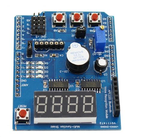 Icl7107cplz Driver Lcd Dan Led Seven Segment jual arduino multifunction learning led buzzer 7 segment