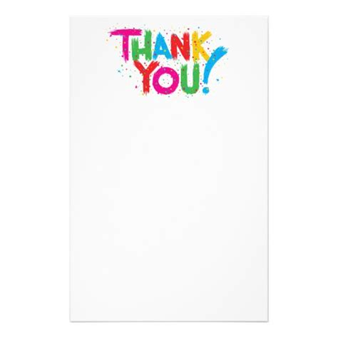 Thank You Letter Stationery Thank You Stationery Paper Zazzle