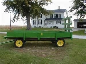deere green painted wood hay rack wagon for sale