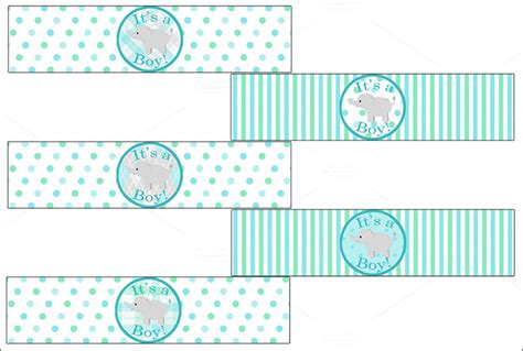 baby shower labels template water bottle label template 29 free psd eps ai