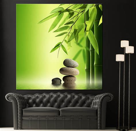 zen decorations wall art canvas giclee print spa zen colorful picture