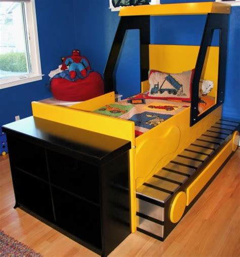 bed for boys bulldozer bed boys beds pinterest