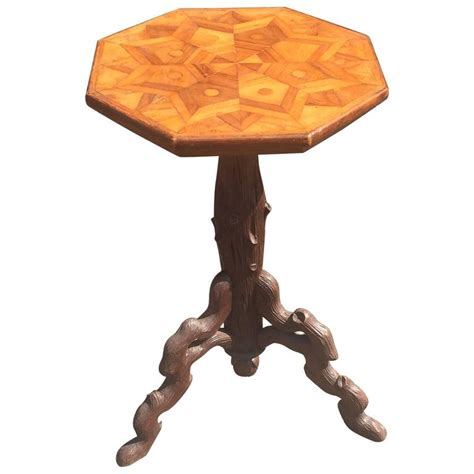 wooden tripod table l antique carved wooden tripod wine table or plant stand