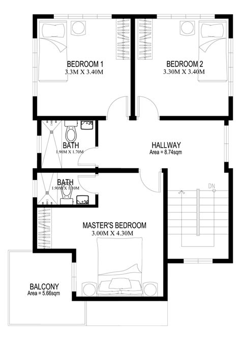 2nd floor house plans two story house plans series php 2014005